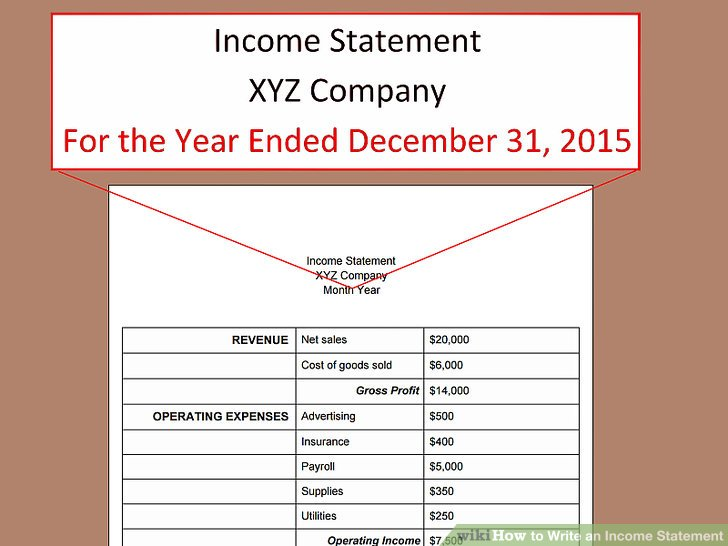How to Write an Income Statement (with Pictures) - wikiHow - components of income statement