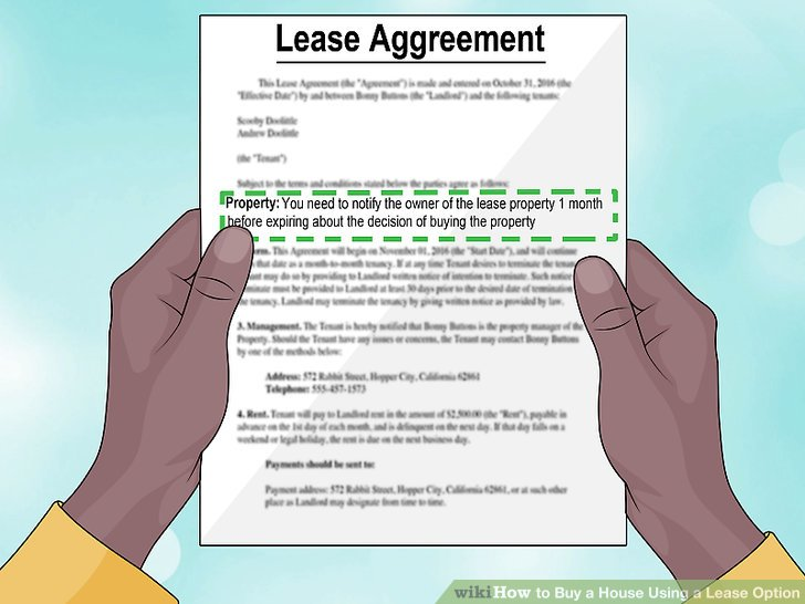 How to Buy a House Using a Lease Option (with Pictures) - wikiHow - rent with option to buy contract