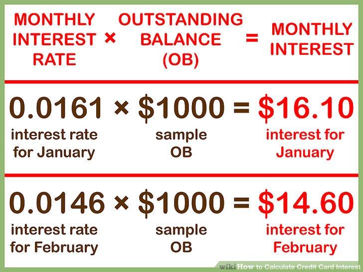 Calculate Credit Card Interest jobtemplatepro