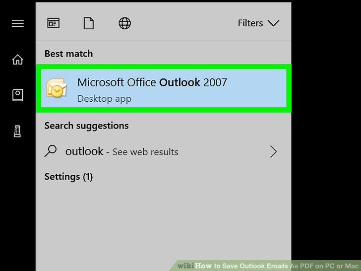 How to Save Outlook Emails As PDF on PC or Mac (with Pictures)