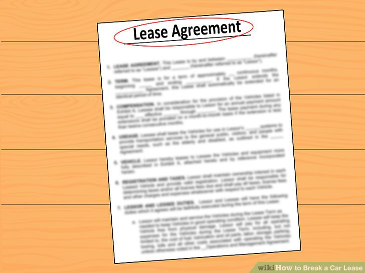 3 Ways to Break a Car Lease - wikiHow - ten terms to include in your lease