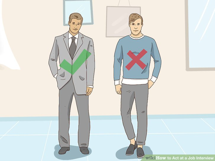 3 Ways to Act at a Job Interview - wikiHow