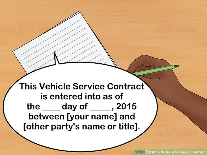 How to Write a Service Contract (with Pictures) - wikiHow