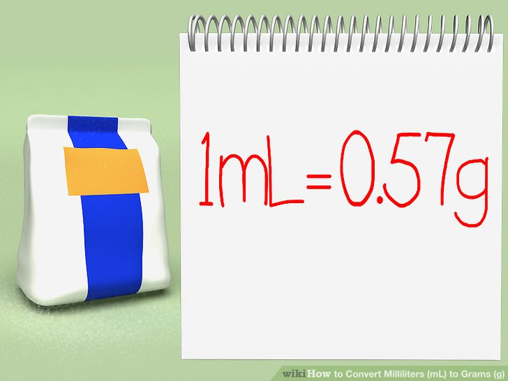 3 Easy Ways to Convert Milliliters (mL) to Grams (g) - wikiHow - gram conversion chart