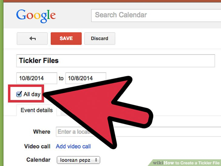 3 Ways to Create a Tickler File - wikiHow - google file system