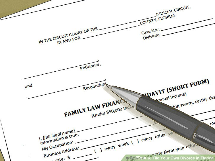 How to File Your Own Divorce in Florida (with Pictures) - wikiHow