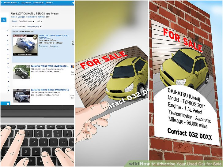 3 Ways to Advertise Your Used Car for Sale - wikiHow - car for sale flyer