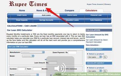 How to Use the Rupee Times Car Loan EMI Calculator: 9 Steps