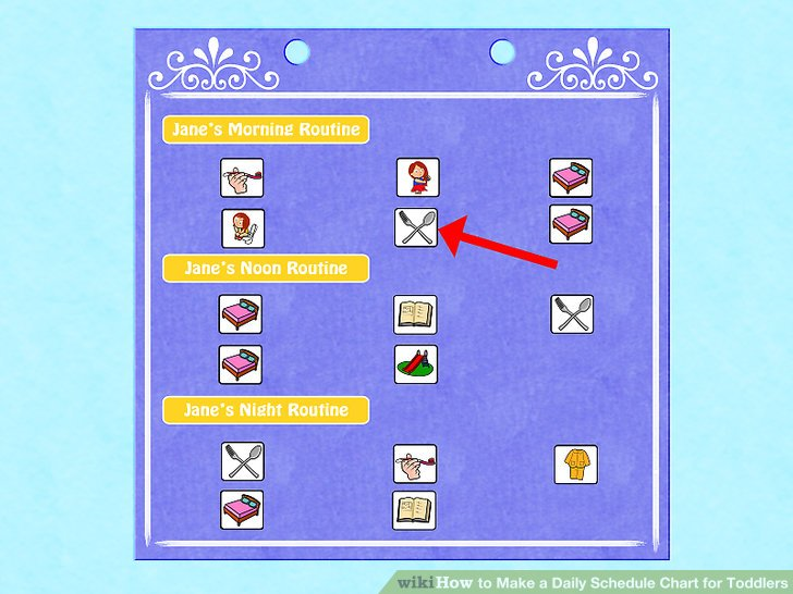 3 Ways to Make a Daily Schedule Chart for Toddlers - wikiHow