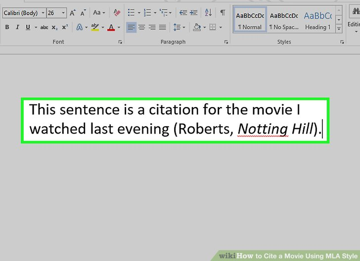 3 Ways to Cite a Movie Using MLA Style - wikiHow