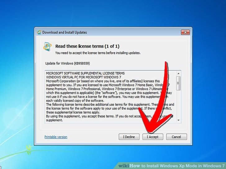How to Install Windows XP Mode in Windows 7 (with Pictures)