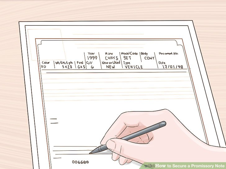4 Ways to Secure a Promissory Note - wikiHow