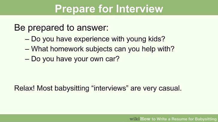 How to Write a Resume for Babysitting (with Pictures) - wikiHow - how you do a resume