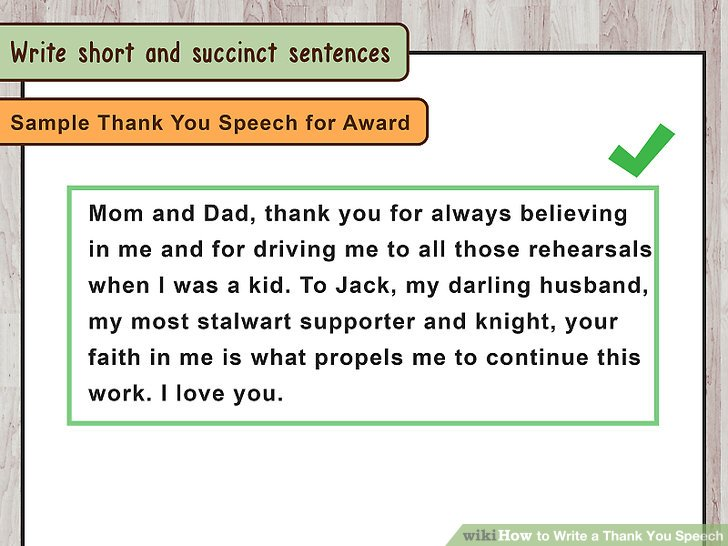 Acceptance Speech Example Template Lukex Co