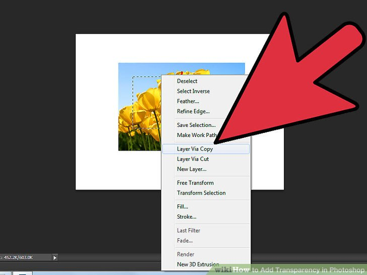 4 Easy Ways to Add Transparency in Photoshop - wikiHow - how to make a picture transparent