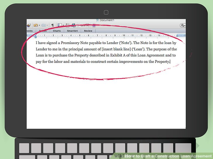 How to Draft a Construction Loan Agreement (with Pictures) - draft promissory note agreement