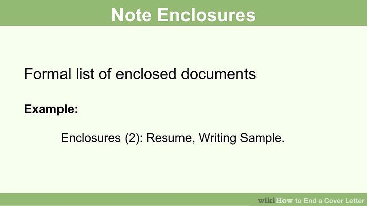 How to End a Cover Letter 15 Steps (with Pictures) - wikiHow - how to end a resume