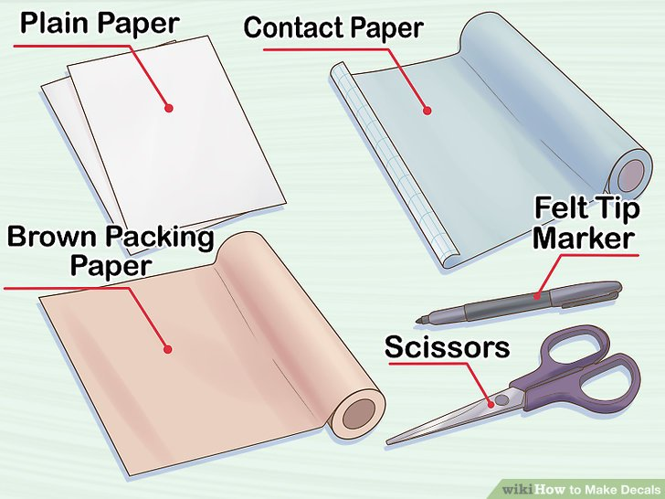 How to Make Decals (with Pictures) - wikiHow