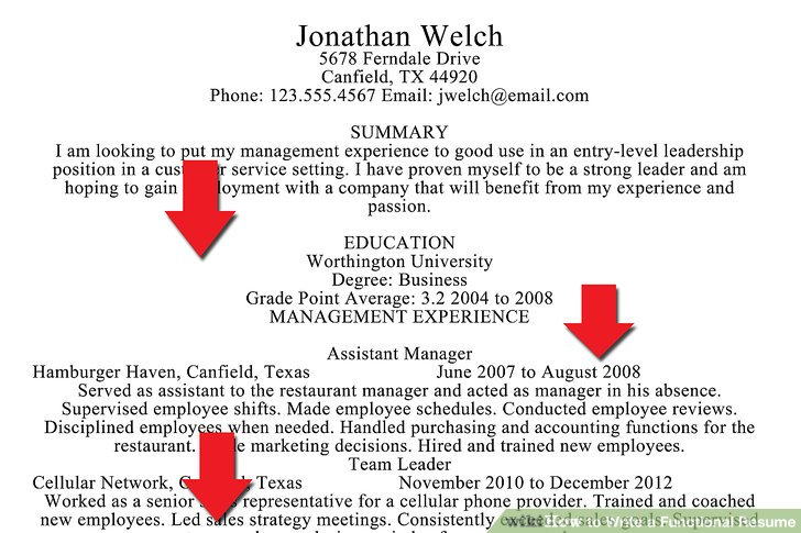 How to Write a Functional Resume (with Sample Resumes) - wikiHow - how to write an educational resume