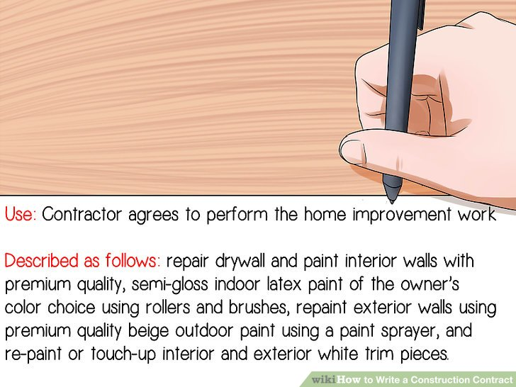 How to Write a Construction Contract 12 Steps (with Pictures) - how to write up a contract for payment
