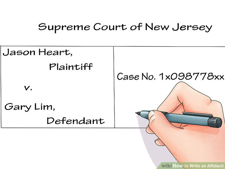 How to Write an Affidavit 10 Steps (with Pictures) - wikiHow - affidavit statement of facts