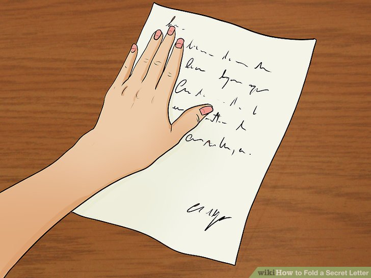 How to Fold a Secret Letter 9 Steps (with Pictures) - wikiHow