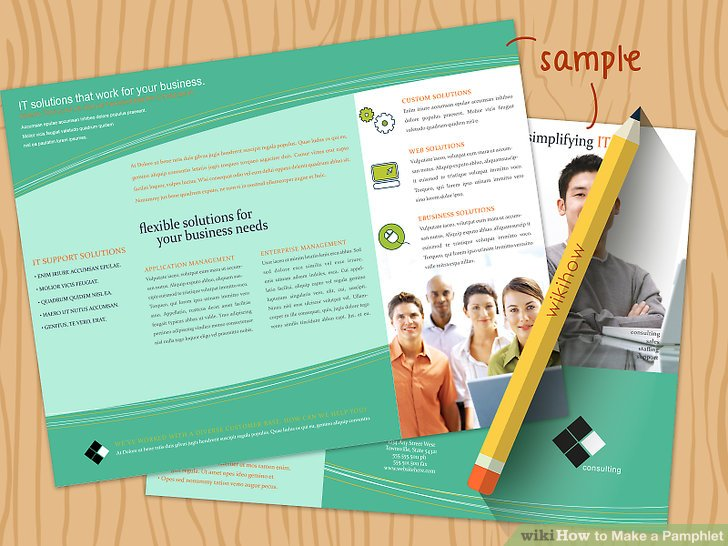 How to Make a Pamphlet (with Pictures) - wikiHow - pamphlet sample