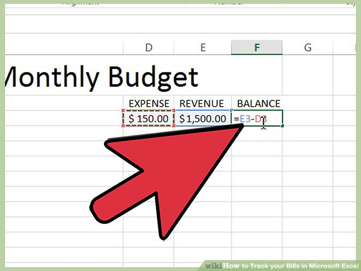 How to Track your Bills in Microsoft Excel 13 Steps