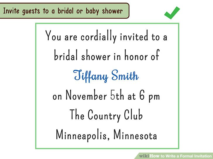 4 Ways to Write a Formal Invitation - wikiHow - formal invitation
