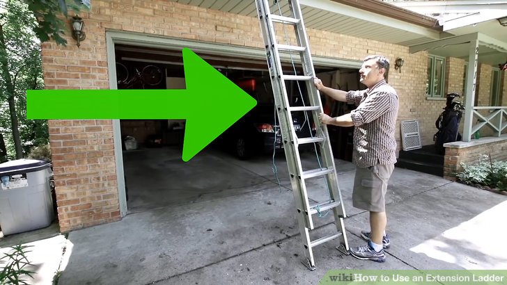 2 Easy Ways to Use an Extension Ladder (with Pictures) - the ladders