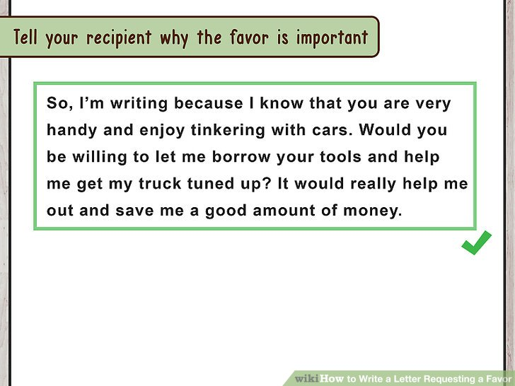The Best Way to Write a Letter Requesting a Favor (with Sample)