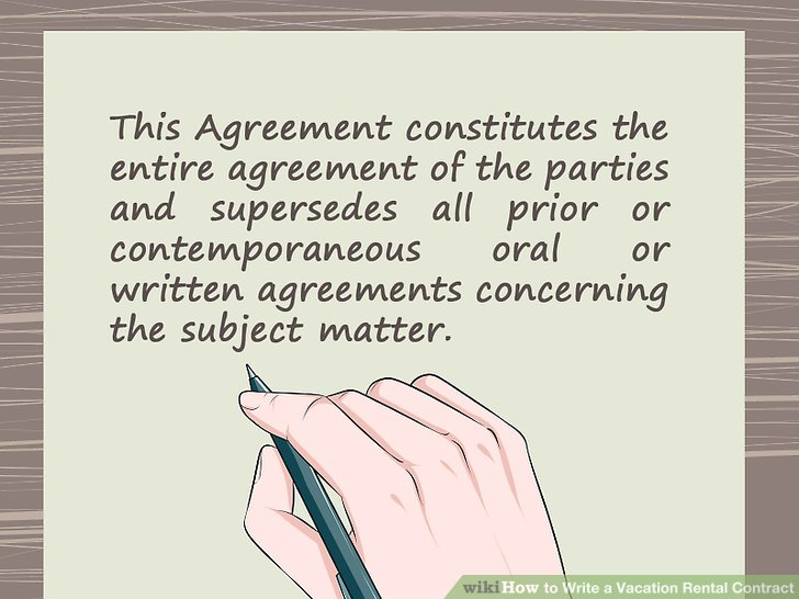 How to Write a Vacation Rental Contract (with Sample Contract) - writing contract agreements