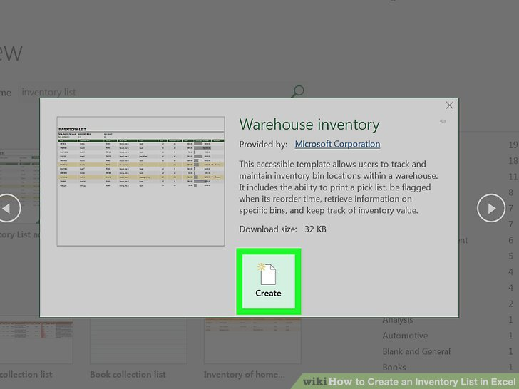 How to Create an Inventory List in Excel (with Pictures) - wikiHow - excel inventory list template