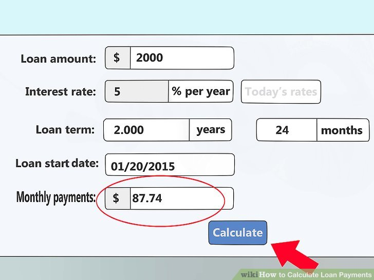 4 Ways to Calculate Loan Payments - wikiHow - college loan interest calculator