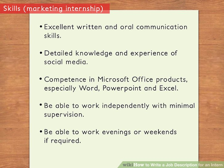 How to Write a Job Description for an Intern 11 Steps - office intern job description