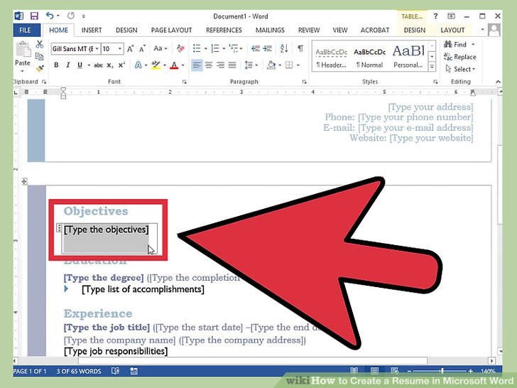 How to Create a Resume in Microsoft Word (with 3 Sample Resumes) - resume in microsoft word