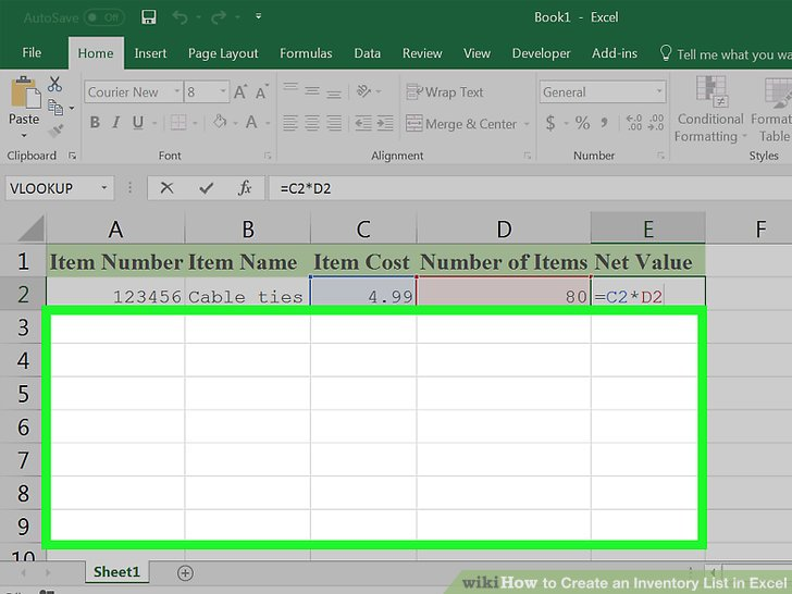How to Create an Inventory List in Excel (with Pictures) - wikiHow - inventory list format