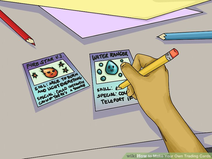 3 Ways to Make Your Own Trading Cards - wikiHow