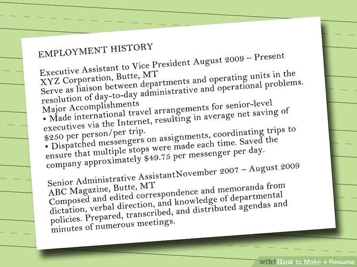 7 Ways to Make a Resume - wikiHow - write a resume