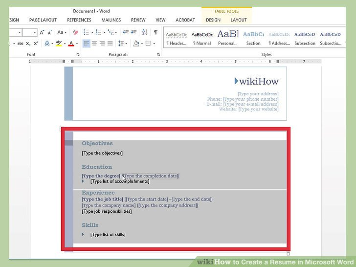 How to Create a Resume in Microsoft Word (with 3 Sample Resumes) - Resume Ms Word Format