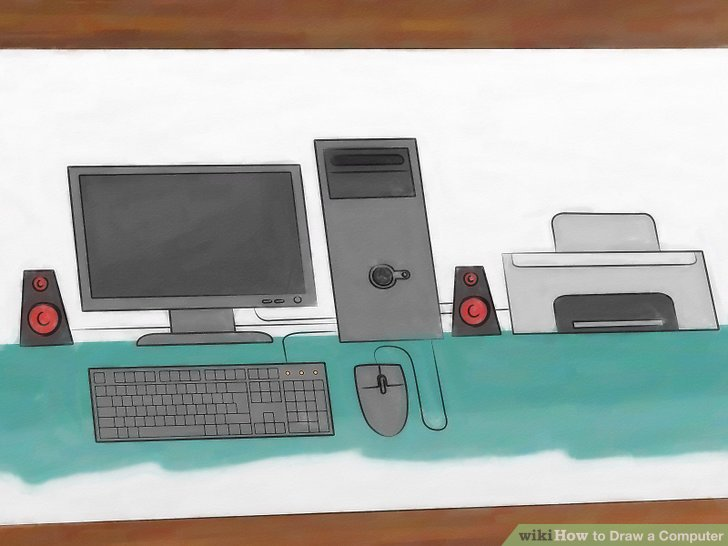 How to Draw a Computer 12 Steps (with Pictures) - wikiHow
