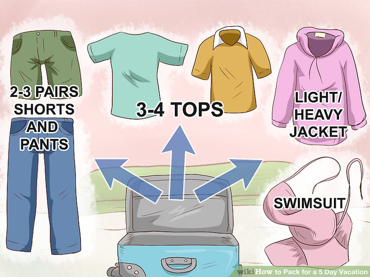 How to Pack for a 5 Day Vacation (with Pictures) - wikiHow