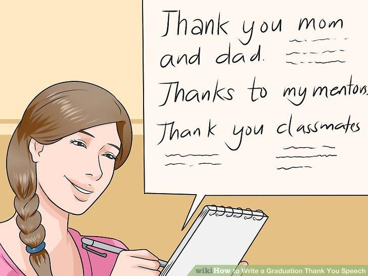 How to Write a Graduation Thank You Speech (with Sample Speeches) - thank you for graduation