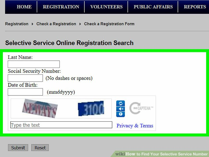 How to Find Your Selective Service Number 11 Steps