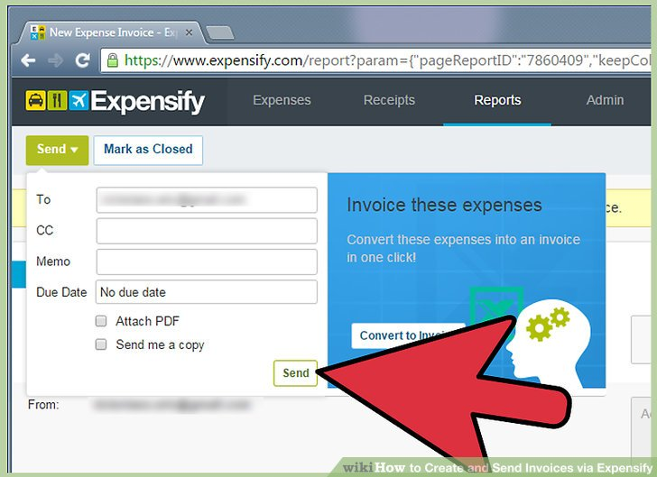 How to Create and Send Invoices via Expensify 14 Steps - send an invoice