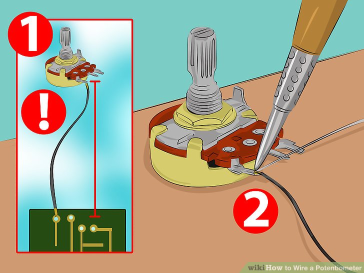 How to Wire a Potentiometer 6 Steps (with Pictures) - wikiHow