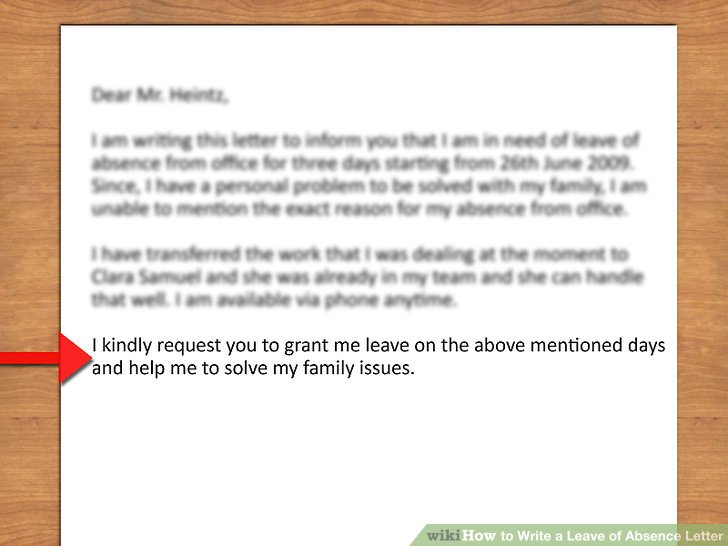 How to Write a Leave of Absence Letter (with Pictures) - wikiHow