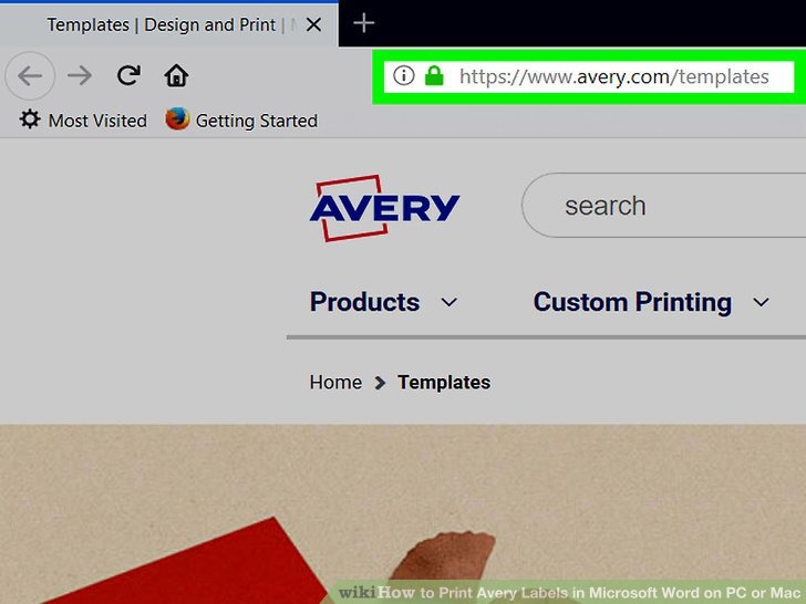 avery templates for mac word