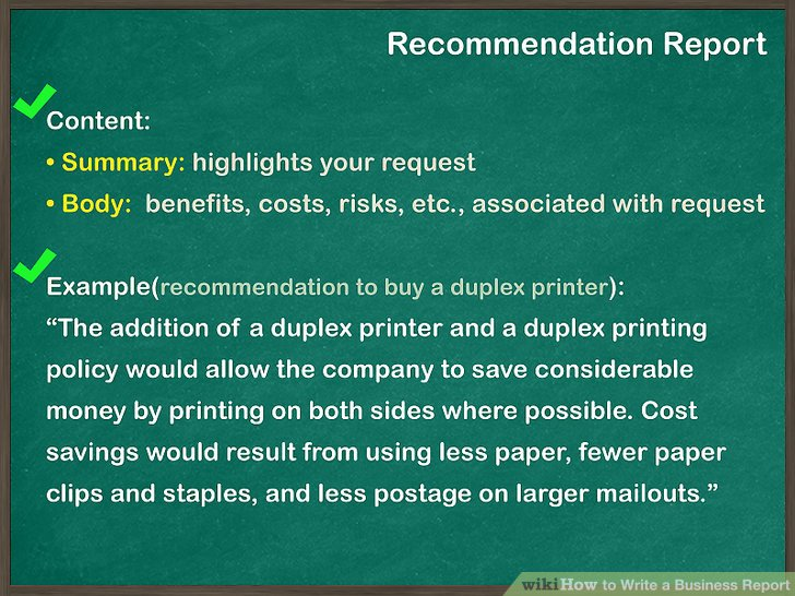 How To Write A Business Report With Pictures Wikihow