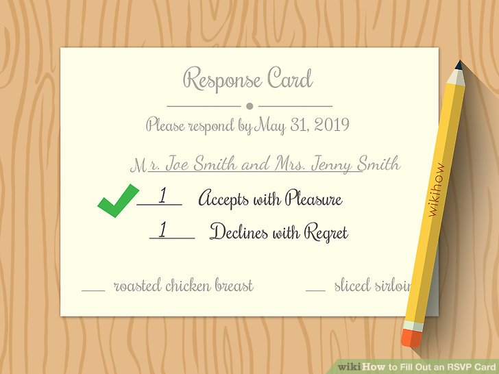 rsvp wedding card examples
